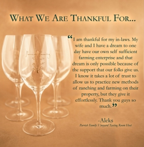 Aleks' Thankful