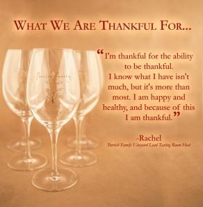 Rachel's Thankful